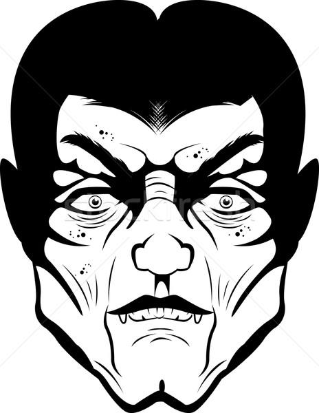 Vampire visage blanc noir illustration Photo stock © cthoman