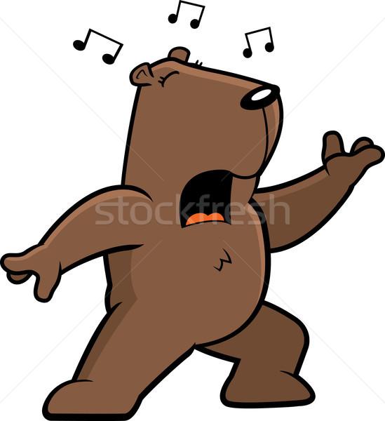 Groundhog Singing Stock photo © cthoman