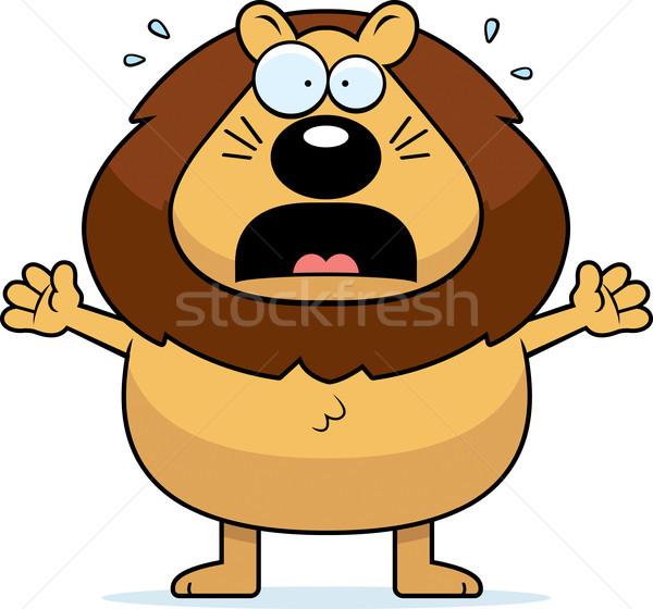 Cartoon Lion Panicking Stock photo © cthoman