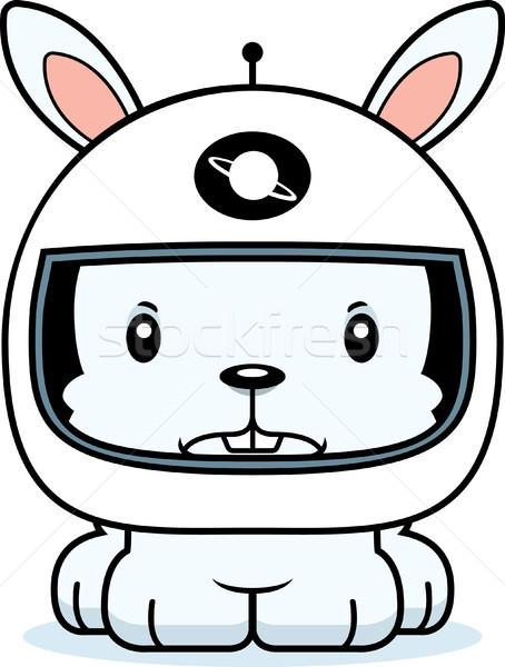 Cartoon Angry Astronaut Bunny Stock photo © cthoman