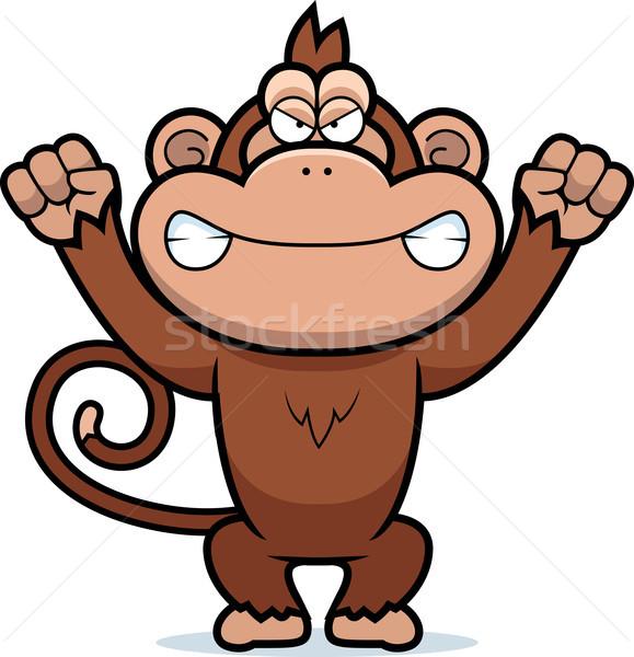 Angry Cartoon Monkey Stock photo © cthoman