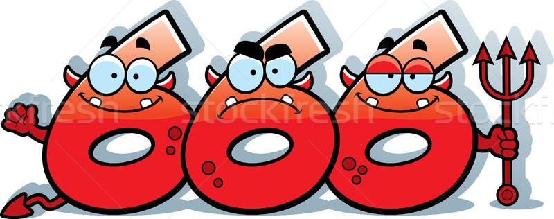 Cartoon número bestia ilustración números mirando Foto stock © cthoman