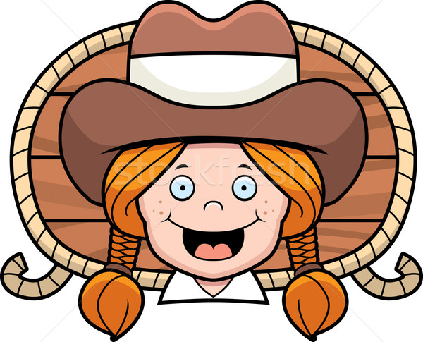 Cowgirl Smiling Stock photo © cthoman
