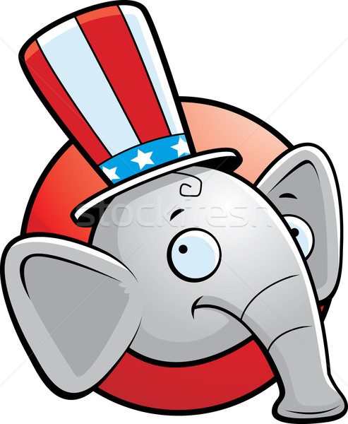 Republicano elefante Cartoon icono sonriendo Foto stock © cthoman