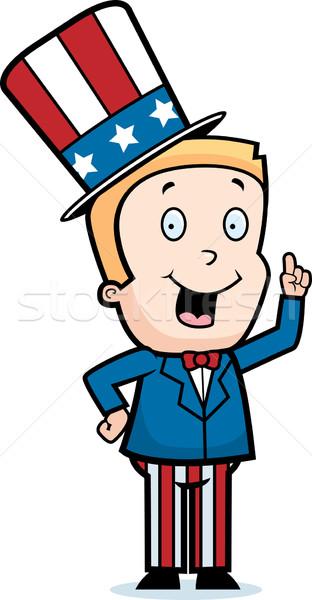 Patriotyczny chłopca szczęśliwy cartoon pomysł dziecko Zdjęcia stock © cthoman