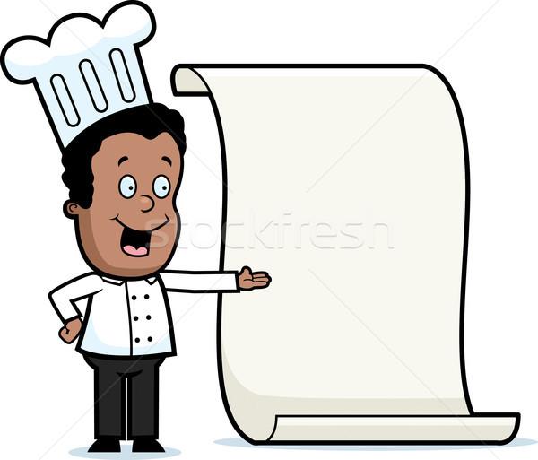 Kid Chef Menu Stock photo © cthoman
