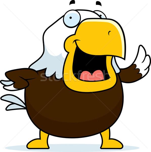 лысые орел счастливым Cartoon улыбаясь Сток-фото © cthoman