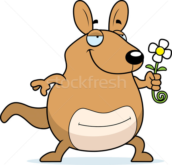 Cartoon Wallaby Flower Stock photo © cthoman