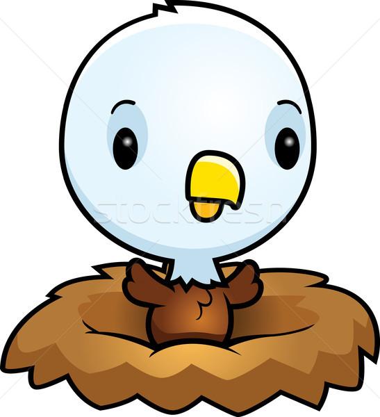 Cartoon Baby Eagle Nest Stock photo © cthoman