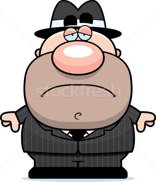 Sad Cartoon Mobster Stock photo © cthoman