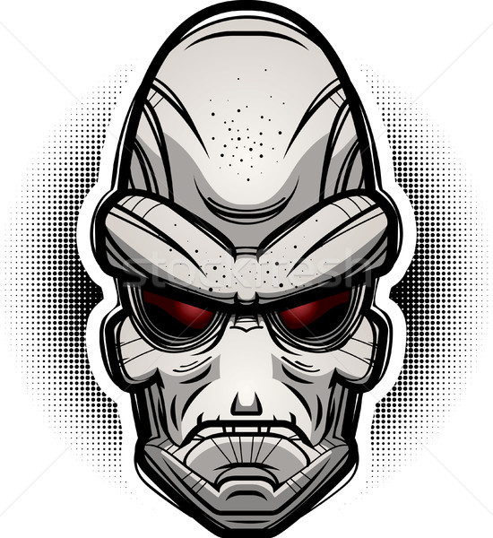 Lol alienígena ilustração olhando gráfico desenho animado Foto stock © cthoman