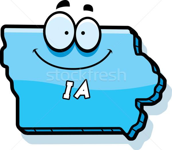 Cartoon Айова иллюстрация улыбаясь графических Америки Сток-фото © cthoman