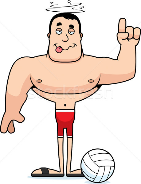 Cartoon Drunk Beach Volleyball Player Vector Illustration C Cory Thoman Cthoman 9355974 Stockfresh