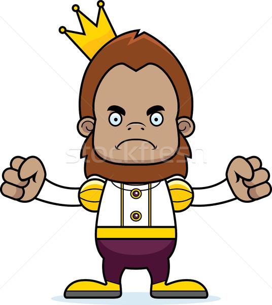 Rajz mérges herceg néz korona grafikus Stock fotó © cthoman