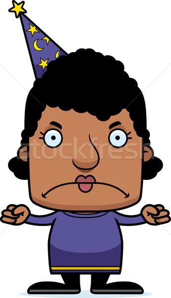 Cartoon Angry Wizard Woman Stock photo © cthoman