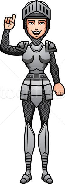 Desenho animado cavaleiro falante ilustração feminino Foto stock © cthoman