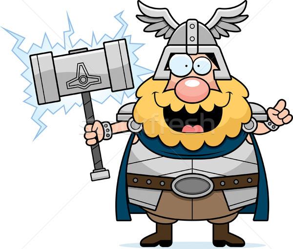 Cartoon Thor Idea Stock photo © cthoman
