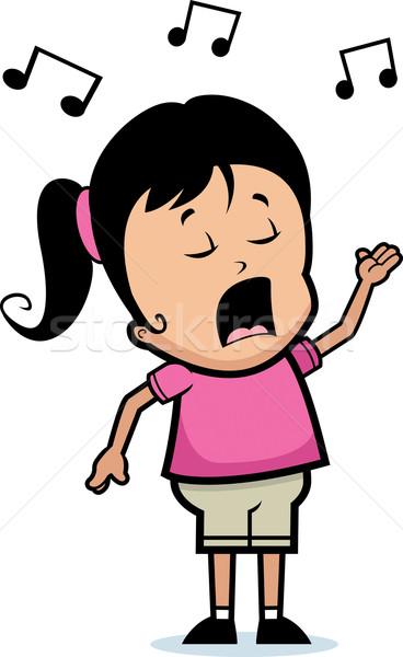 Girl Singing vector illustration © Cory Thoman (cthoman ...  Cartoon