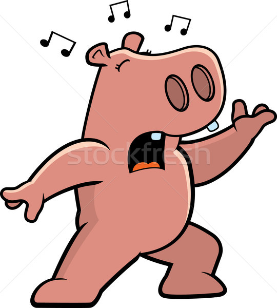 Hippo Singing Stock photo © cthoman