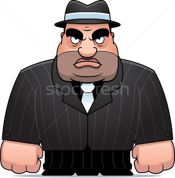Cartoon Mobster Stock photo © cthoman