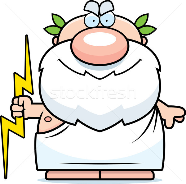 Cartoon Zeus Thunderbolt Stock photo © cthoman