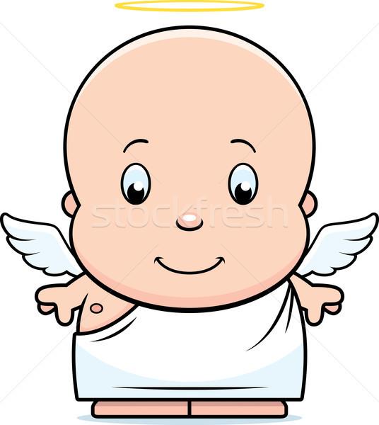 Cartoon bebé ángel ilustración halo Foto stock © cthoman