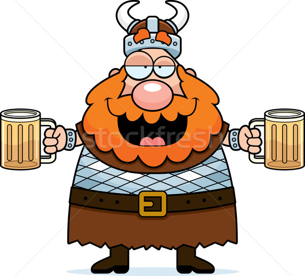 Drunk Viking Stock photo © cthoman