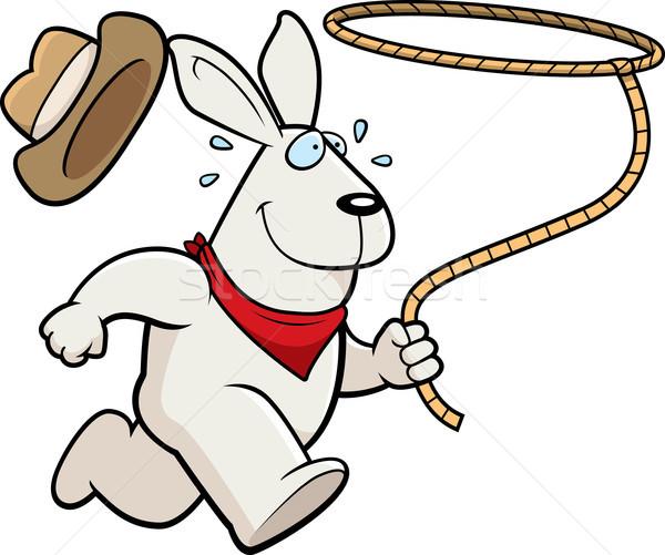 ウサギ ロデオ 幸せ 漫画 を実行して ストックフォト © cthoman