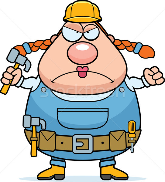 Construction Worker Angry Stock photo © cthoman