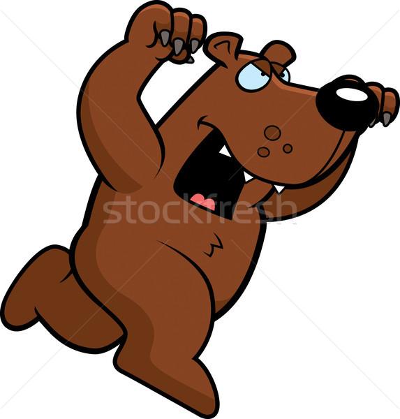 Rajz medve fut támadás karmok ki Stock fotó © cthoman