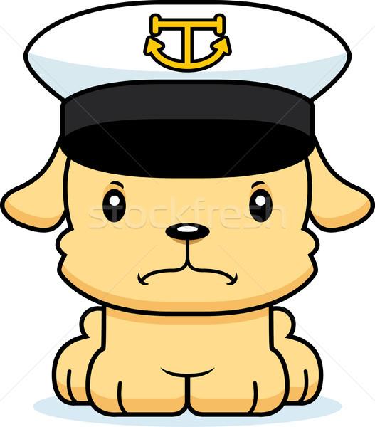 Cartoon Angry Boat Captain Puppy Stock photo © cthoman
