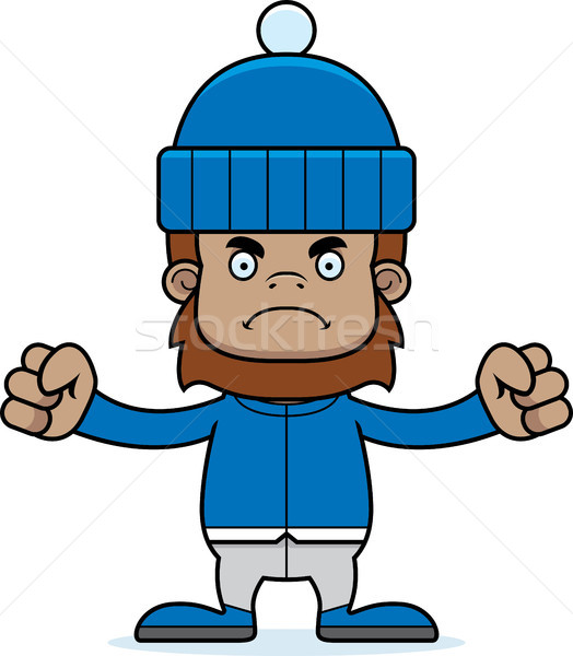 Cartoon Angry Winter Sasquatch Stock photo © cthoman