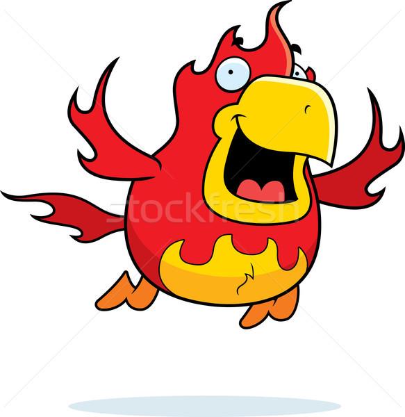 漫画 フェニックス 飛行 実例 笑みを浮かべて 幸せ ストックフォト © cthoman