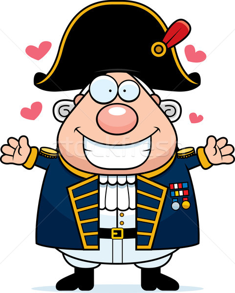 Cartoon British Admiral Hug Stock photo © cthoman
