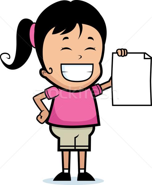 Dziecko dumny szczęśliwy cartoon kawałek Zdjęcia stock © cthoman