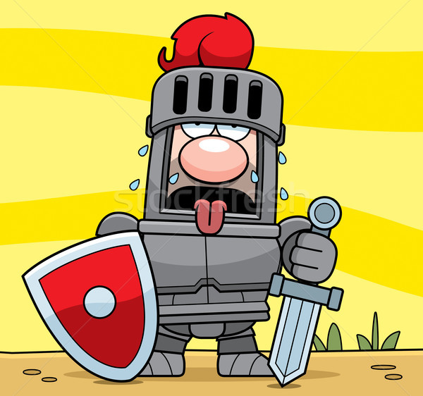 Cartoon Knight Tired Stock photo © cthoman