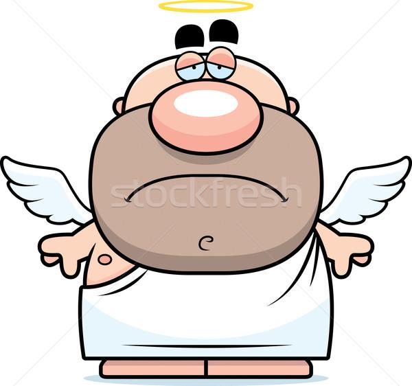 Szomorú rajz angyal illusztráció férfi szárnyak Stock fotó © cthoman