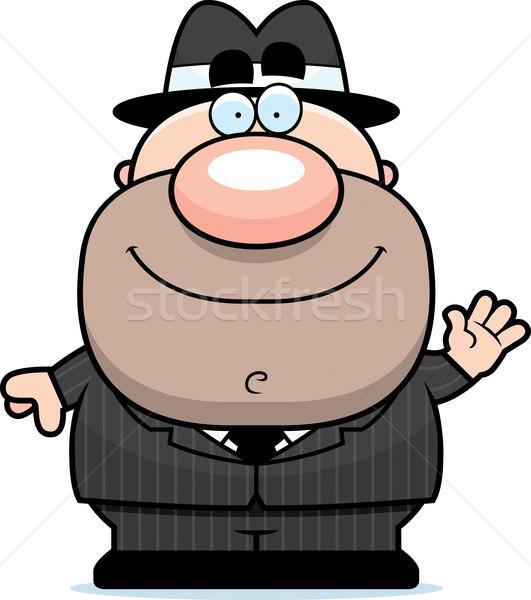 Karikatur Illustration Männer Person lächelnd Stock foto © cthoman