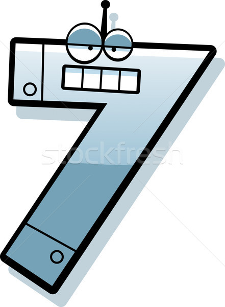 Number Seven Robot Stock photo © cthoman