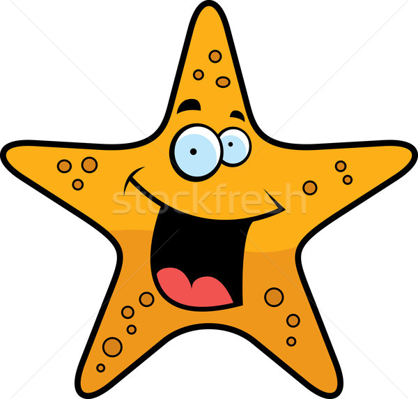 Starfish souriant cartoon or heureux Photo stock © cthoman