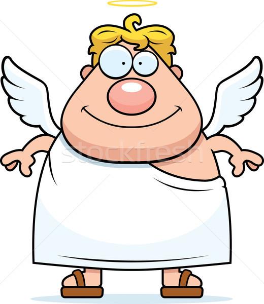ángel sonriendo feliz Cartoon halo Foto stock © cthoman
