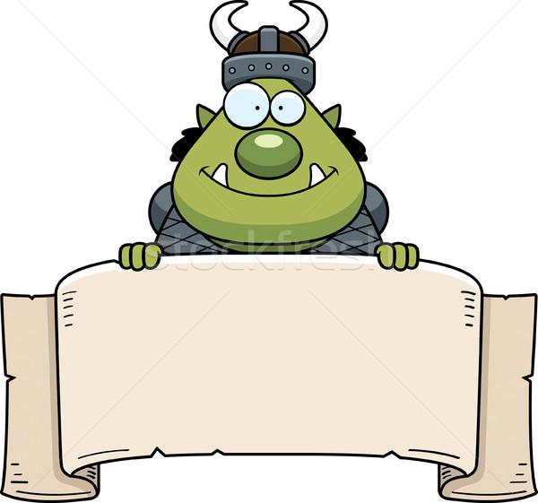 Cartoon Orc Banner Stock photo © cthoman