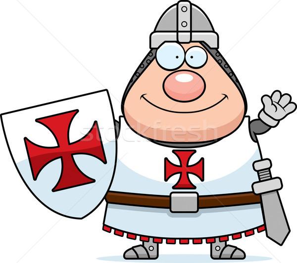 Cartoon Templar Waving Stock photo © cthoman