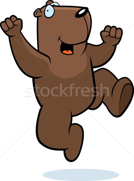 Groundhog Jumping Stock photo © cthoman