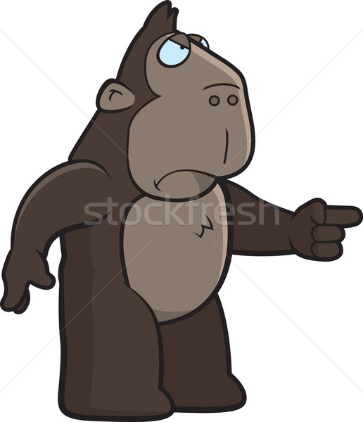 Angry Ape Stock photo © cthoman