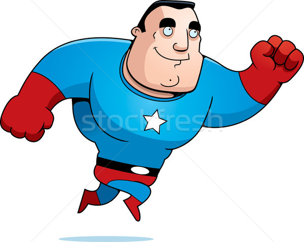 Cartoon Superhero Jumping Stock photo © cthoman