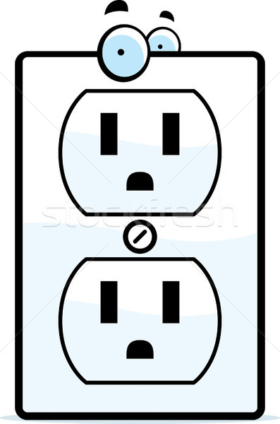 Cartoon Electrical Outlet Stock photo © cthoman