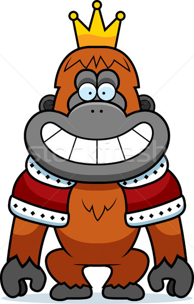 Cartoon Orangutan King Stock photo © cthoman