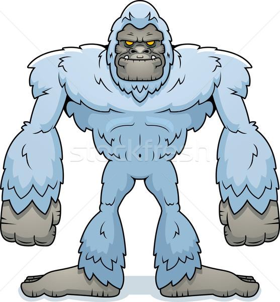 Cartoon permanente illustratie dier monster Stockfoto © cthoman