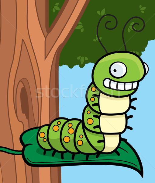 Cartoon Caterpillar Stock photo © cthoman